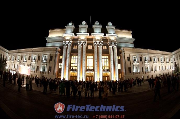 Противопожарные шторы FireTechnics с пределом огнестойкости EI120 Premium (с орошением) для Самарского театра оперы и балета г. Самара