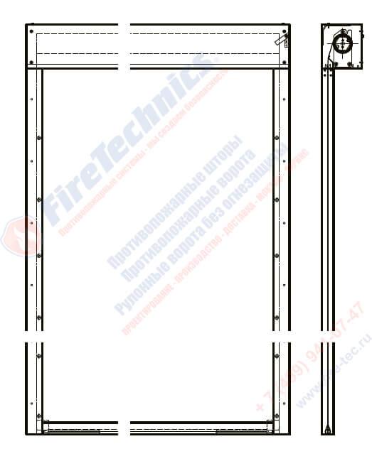Противопожарная штора EI 60 ⋅ EI 90 ⋅ EI 120