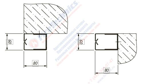 Направляющие Противопожарных штор без орошения EI60 • EI90 • EI120