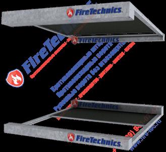 Противопожарная штора модели Горизонтальная